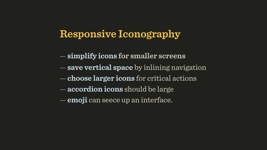 Responsive Iconography