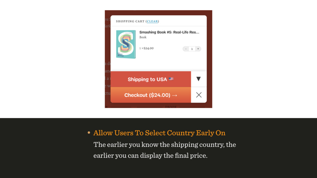 • Allow Users To Select Country Early On