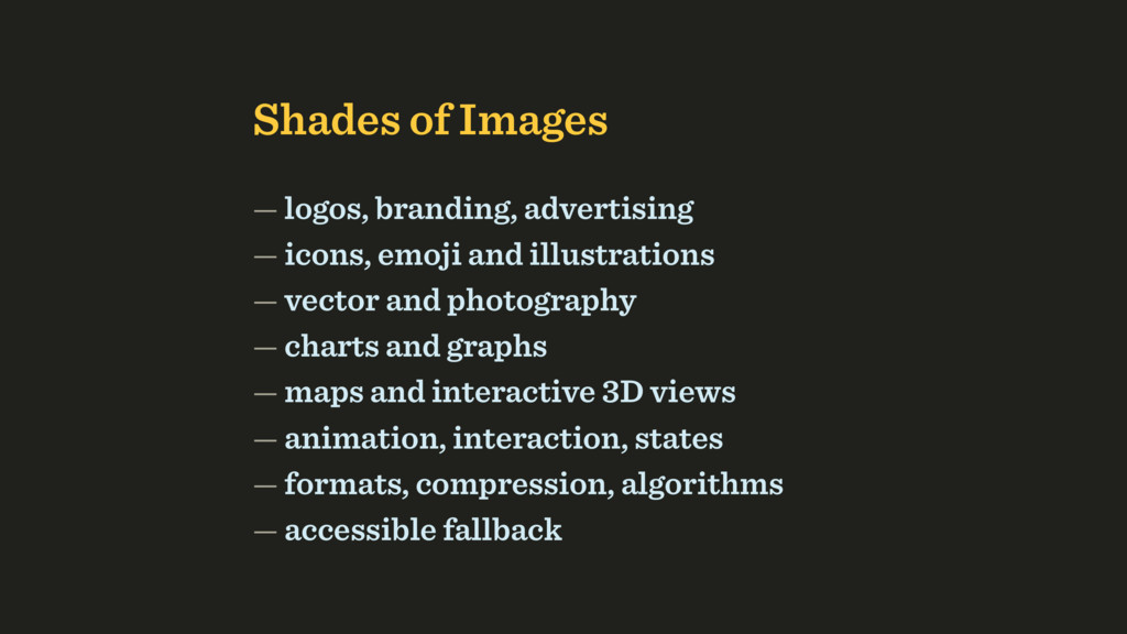 Shades of Images