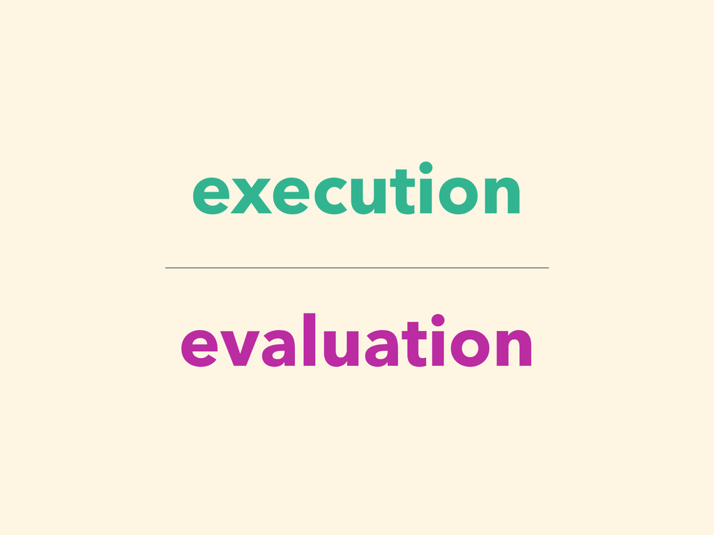 execution evaluation