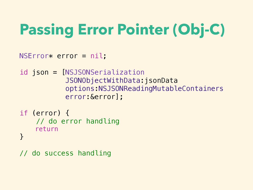 Passing Error Pointer (Obj-C) NSError* error = ...