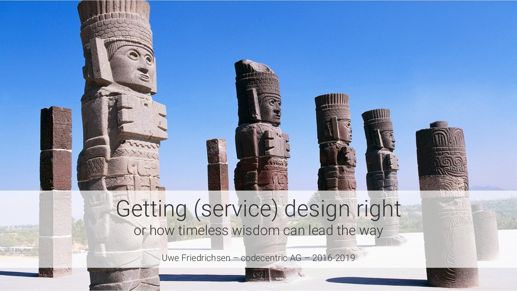 Getting (service) design right or how timeless ...