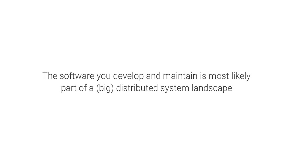 The software you develop and maintain is most l...
