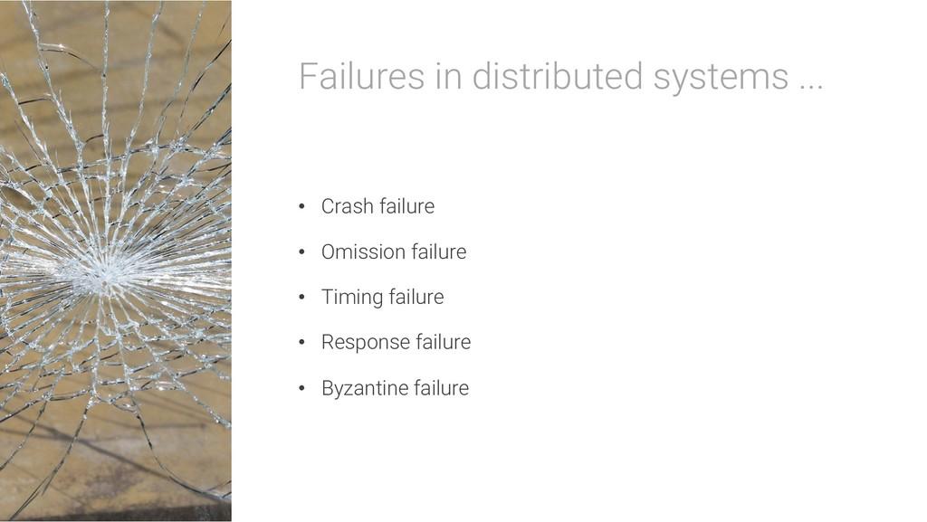Failures in distributed systems ... • Crash fai...