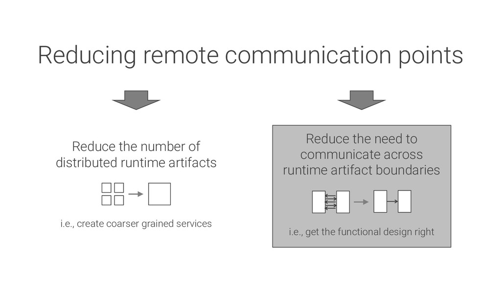 Reducing remote communication points Reduce the...