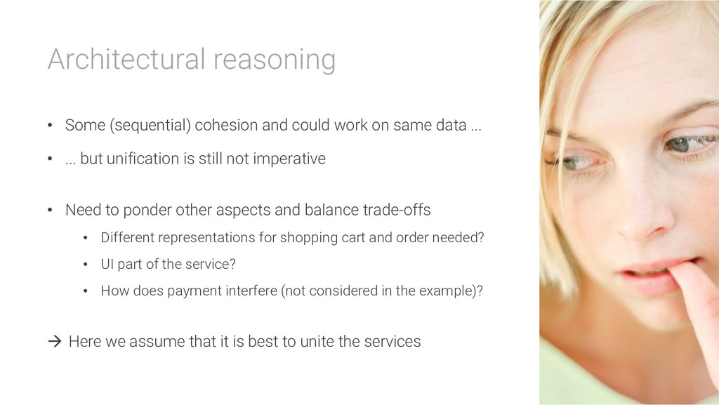 Architectural reasoning • Some (sequential) coh...