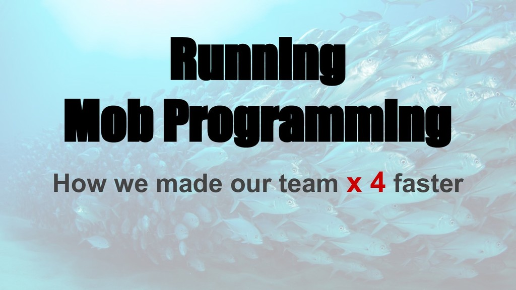 Running Mob Programming How we made our team x ...
