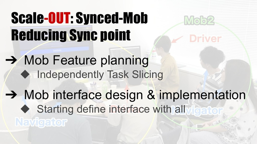Scale-OUT: Synced-Mob Reducing Sync point ➔ Mob...