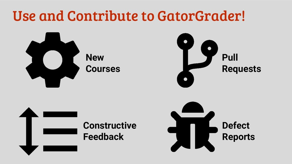 Use and Contribute to GatorGrader! New Courses ...