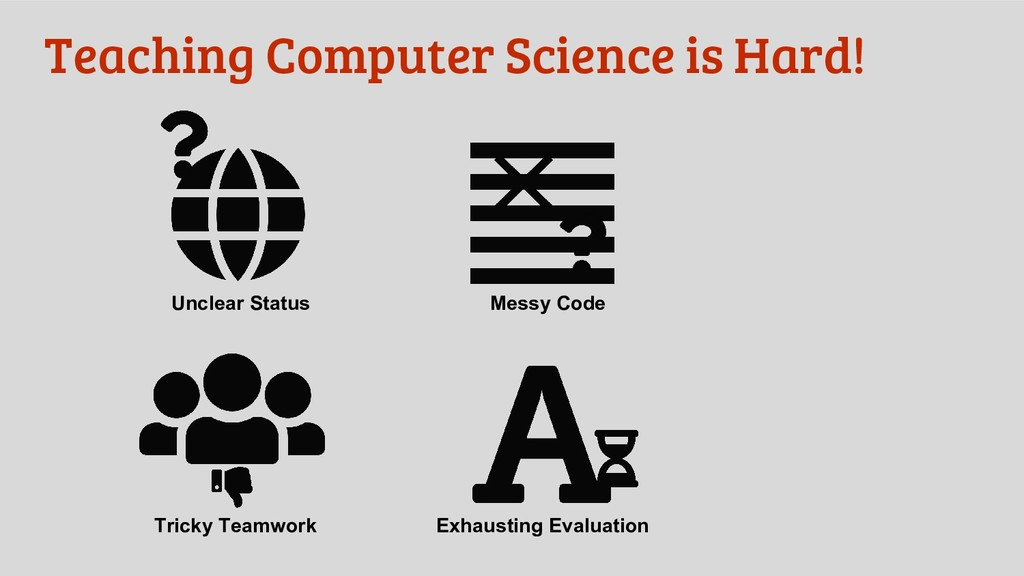 Teaching Computer Science is Hard! Unclear Stat...