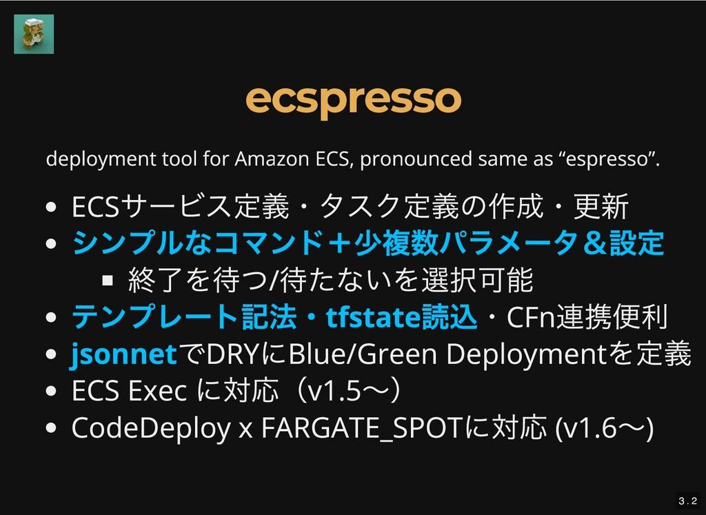 deployment tool for Amazon ECS, pronounced same...