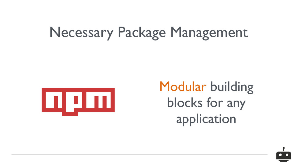 Necessary Package Management Modular building b...
