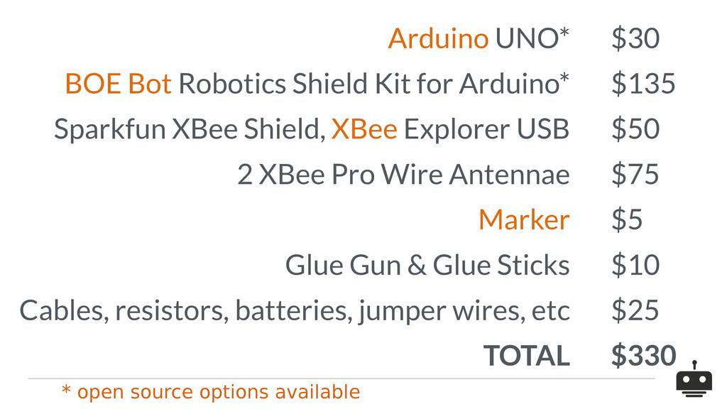 Arduino UNO* $30 BOE Bot Robotics Shield Kit fo...