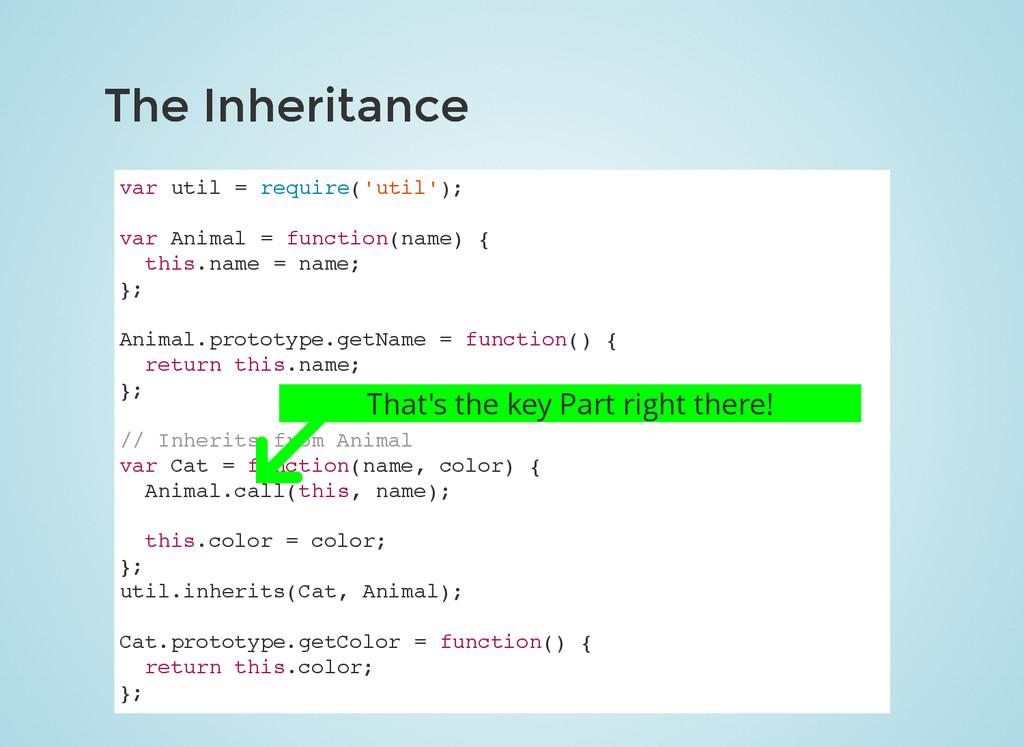 The Inheritance The Inheritance var util = requ...