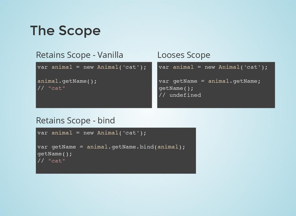 The Scope The Scope Retains Scope - Vanilla var...
