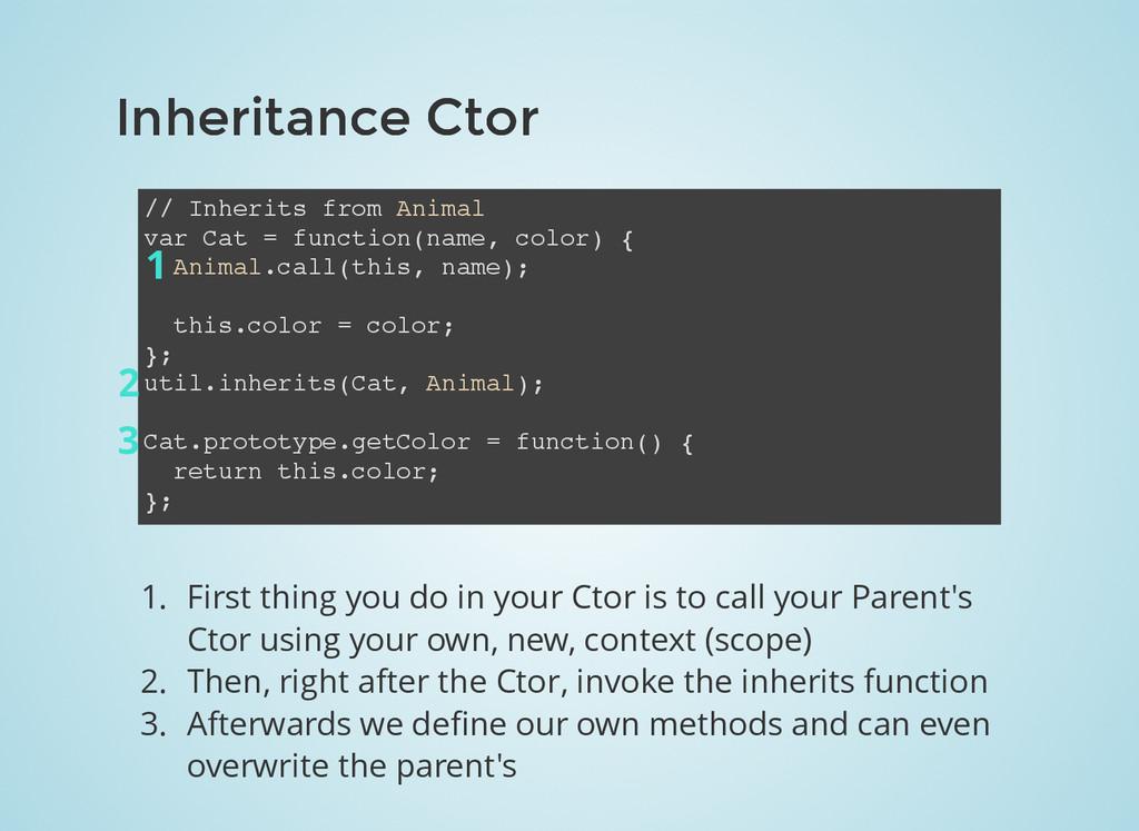 Inheritance Ctor Inheritance Ctor // Inherits f...