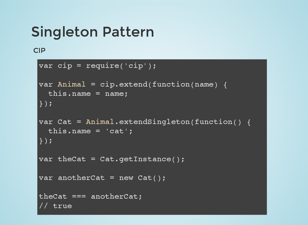 Singleton Pattern Singleton Pattern CIP CIP var...