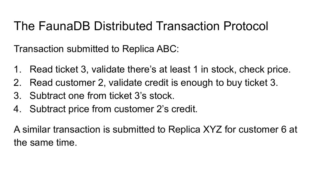 The FaunaDB Distributed Transaction Protocol Tr...