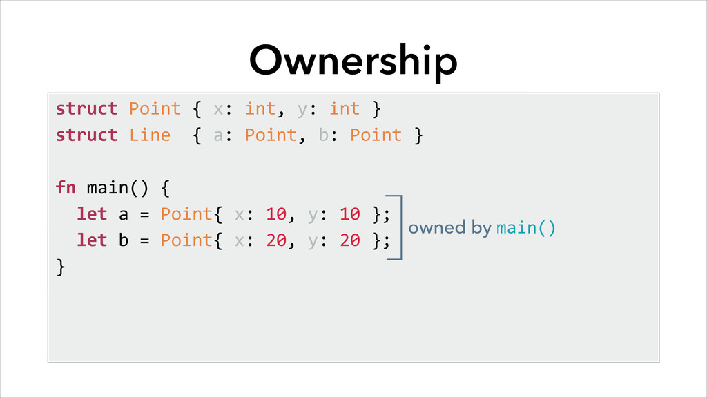 Ownership struct	