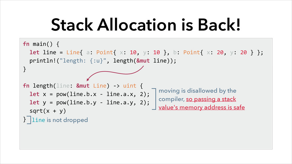 Stack Allocation is Back! fn main() { ...
