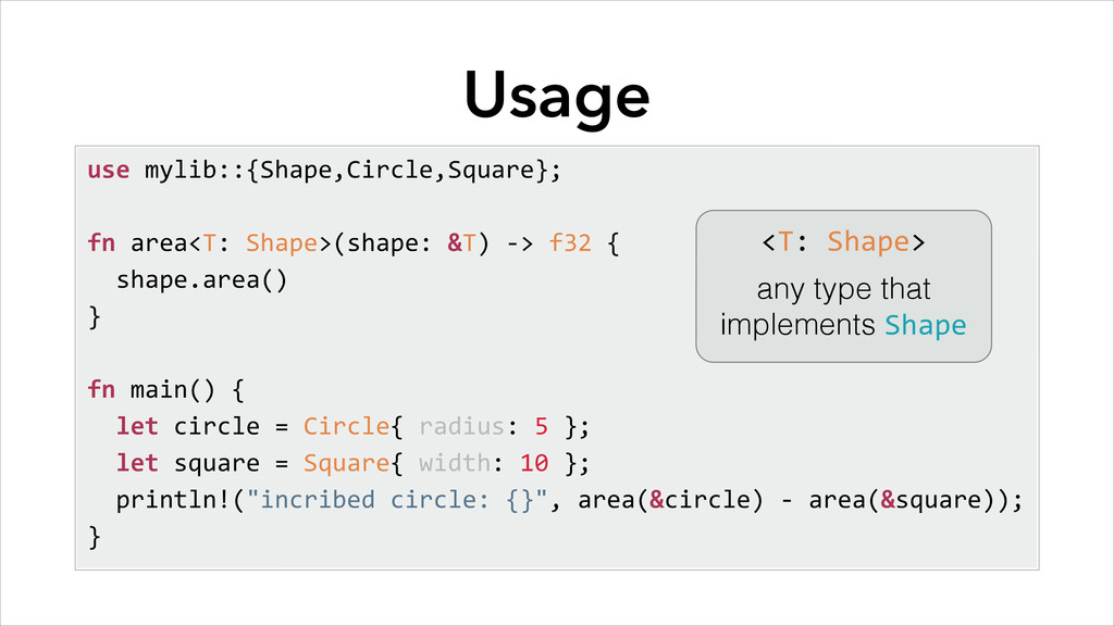 Usage use	
