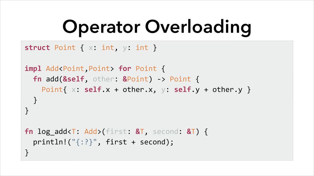 Operator Overloading struct	