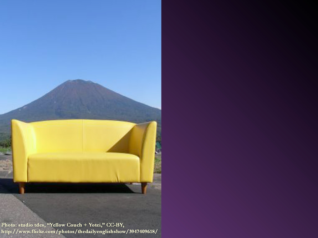 "Photo: studio tdes, ""Yellow Couch + Yotei,"" CC-..."