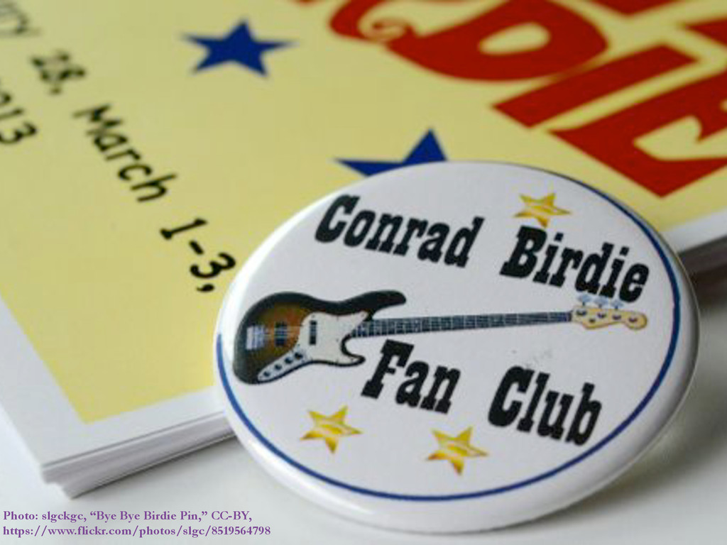 "Photo: slgckgc, ""Bye Bye Birdie Pin,"" CC-BY, ht..."
