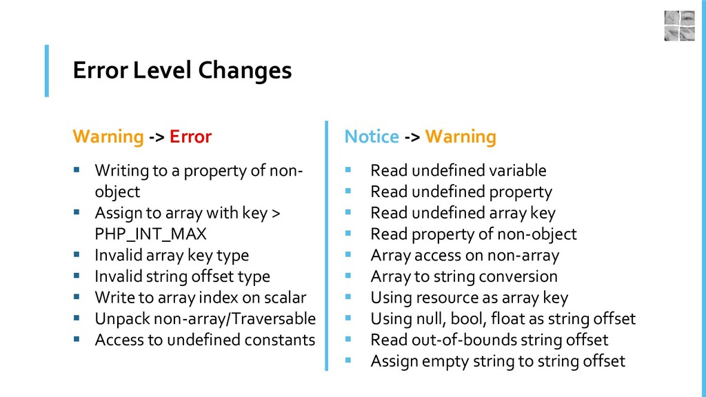 Error Level Changes Warning -> Error ▪ Writing ...
