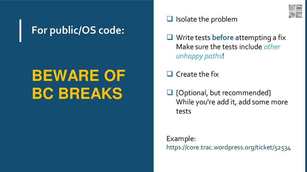 For public/OS code: ❑ Isolate the problem ❑ Wri...