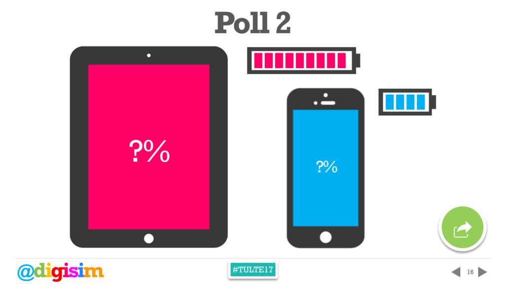 @digisim #TULTE17 16 ?% ?% Poll 2 p