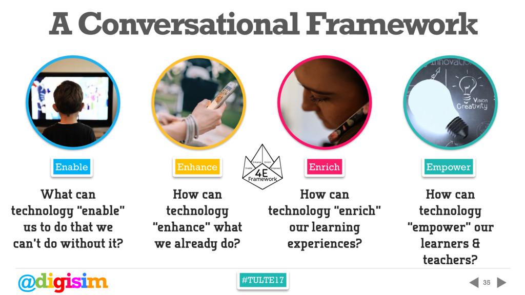 @digisim #TULTE17 35 A Conversational Framework...