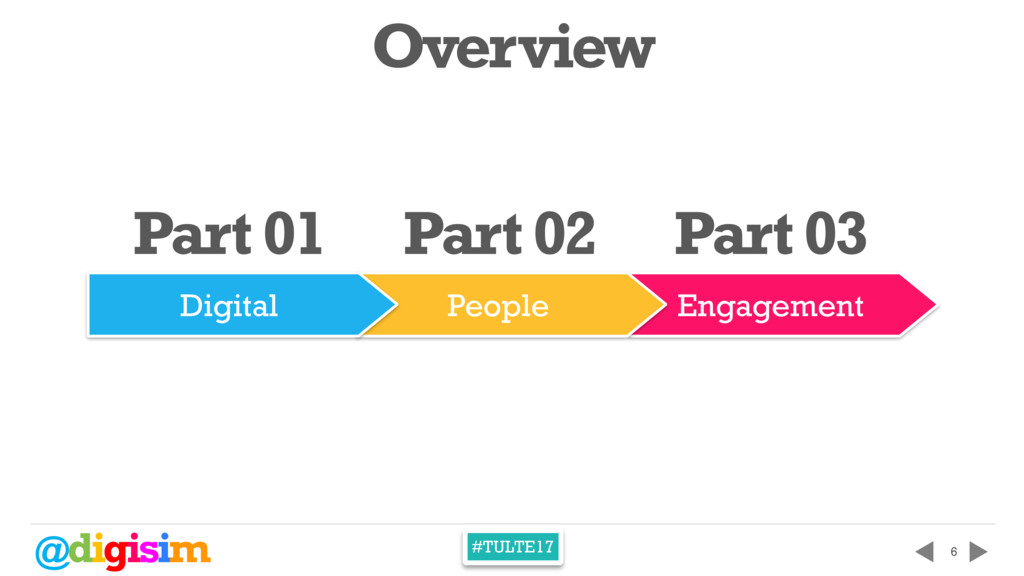 @digisim #TULTE17 Engagement People 6 Part 01 P...