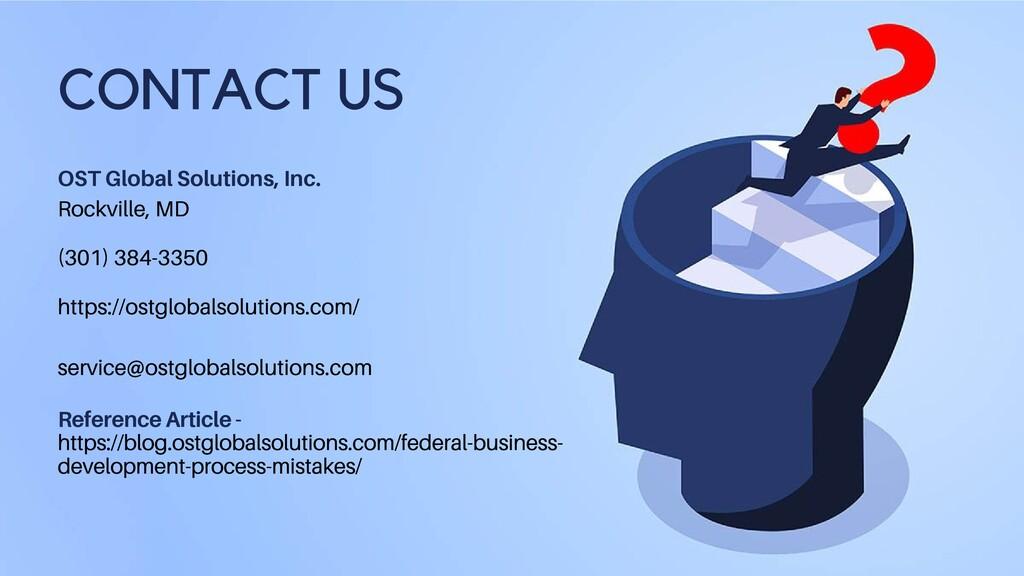 OST Global Solutions, Inc. Rockville, MD (301) ...