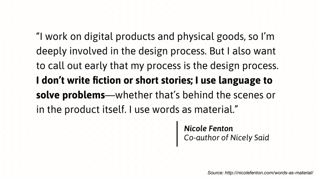"""""""I work on digital products and physical goods,..."""