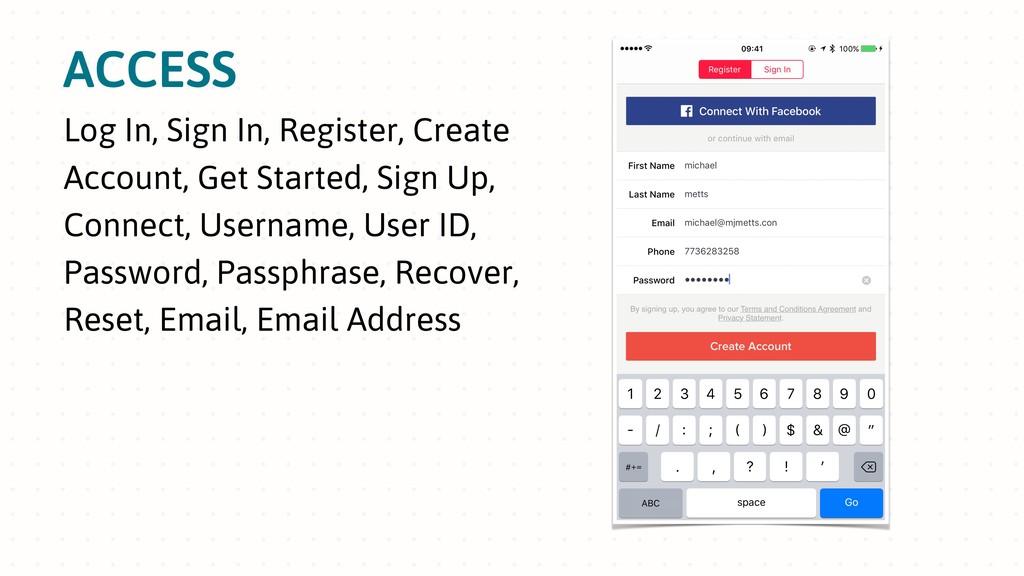 ACCESS Log In, Sign In, Register, Create Accoun...