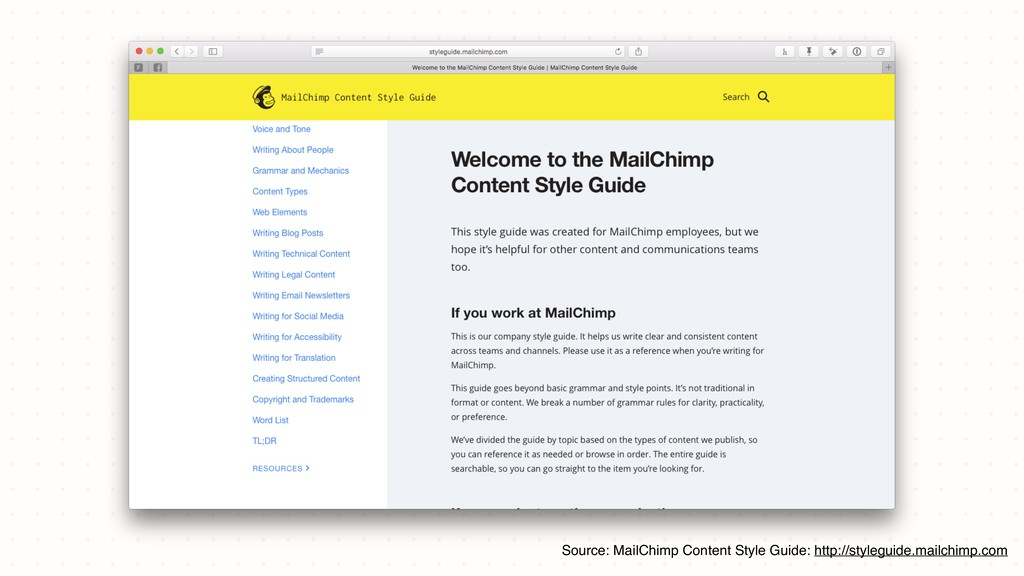 Source: MailChimp Content Style Guide: http://s...