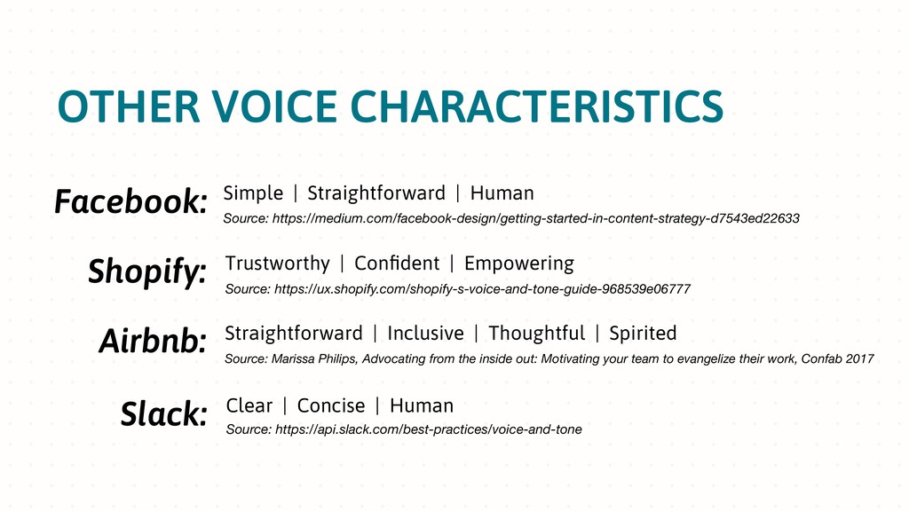 OTHER VOICE CHARACTERISTICS Facebook: Simple | ...