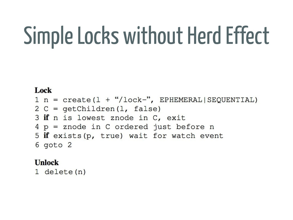 Simple Locks without Herd Effect