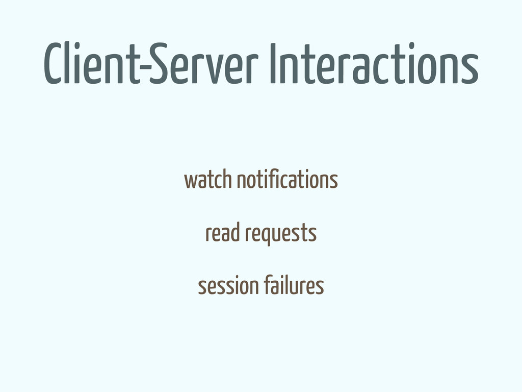 Client-Server Interactions watch notifications ...