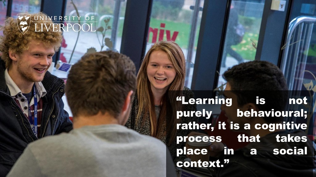 """Learning is not purely behavioural; rather, it..."