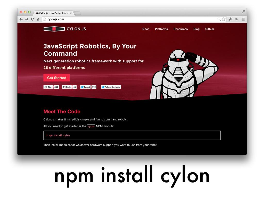 npm install cylon
