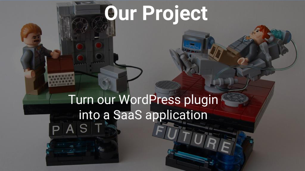 Our Project Turn our WordPress plugin into a Sa...