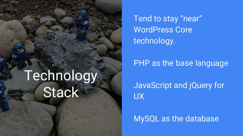 "Technology Stack Tend to stay ""near"" WordPress ..."