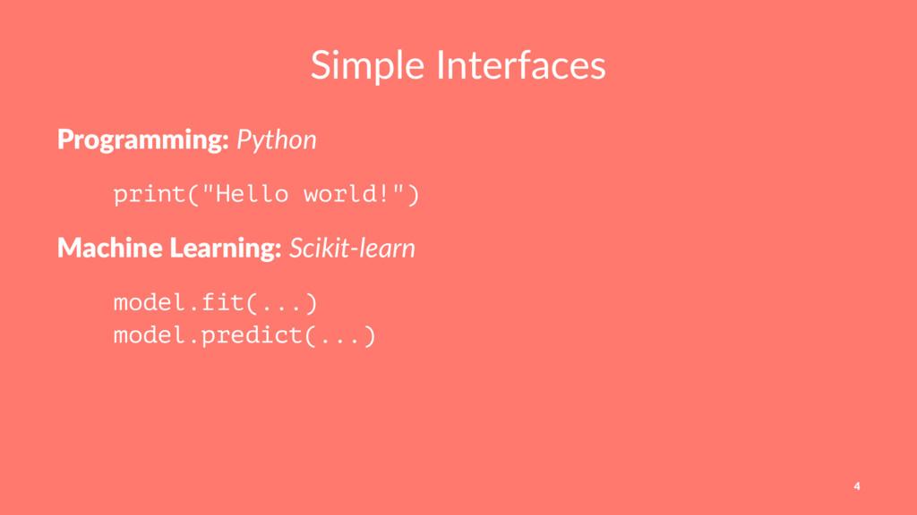 "Simple Interfaces Programming: Python print(""He..."