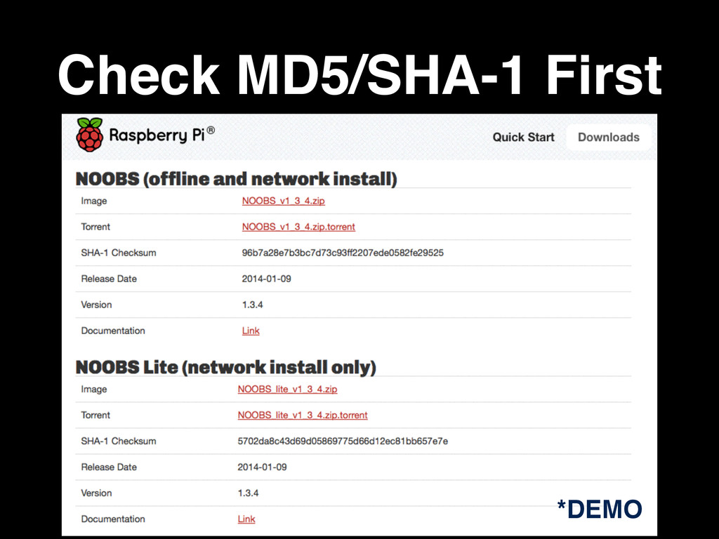 Check MD5/SHA-1 First *DEMO