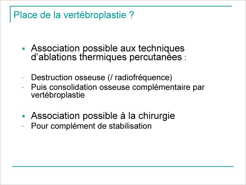 Place de la vertébroplastie ? ! ■ Association p...