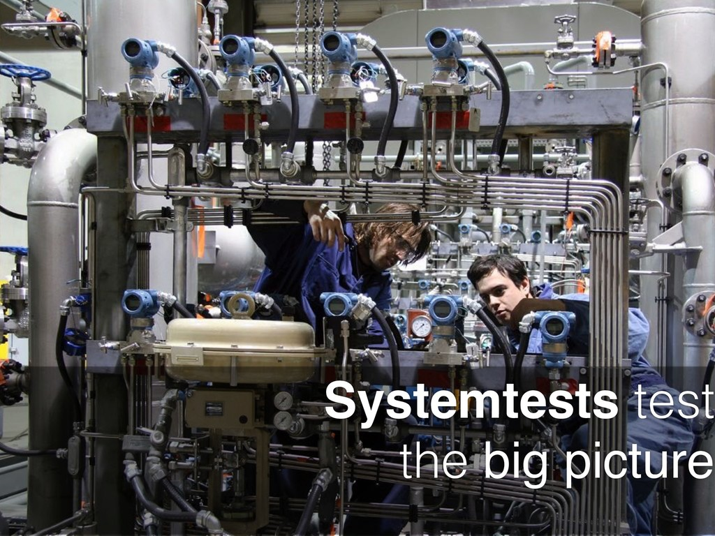 Systemtests test the big picture