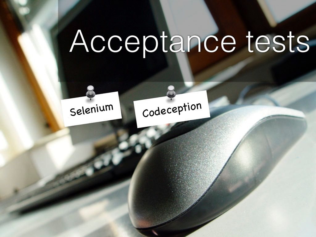 Acceptance tests Selenium Codeception