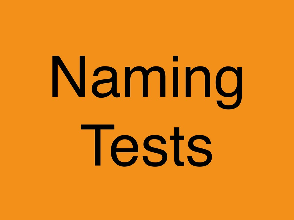 Naming